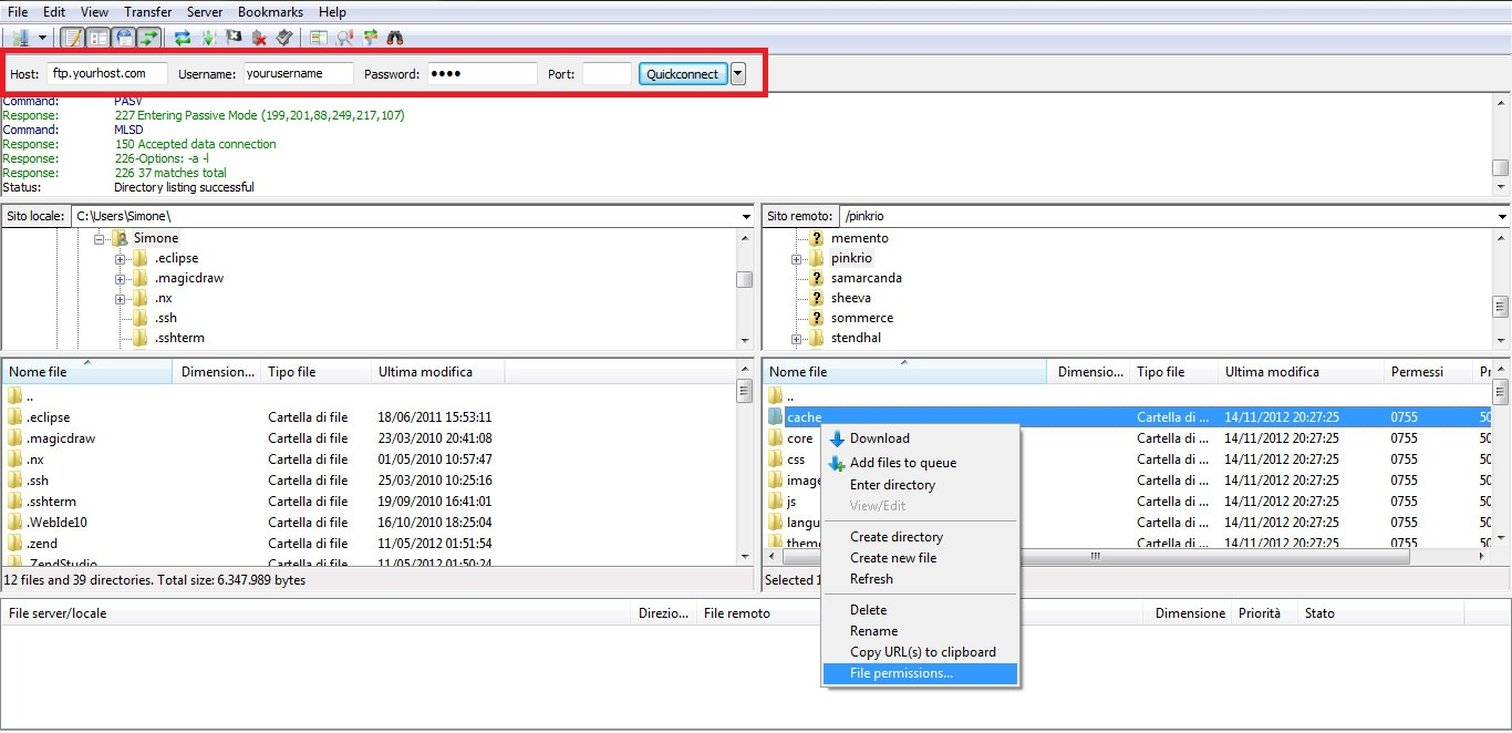 Selecting File Permissions
