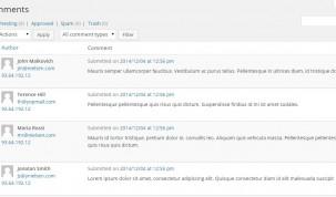 Comments management - Vendor view