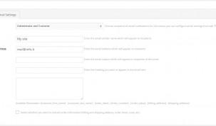 "Status options - Tab ""Email Settings"""