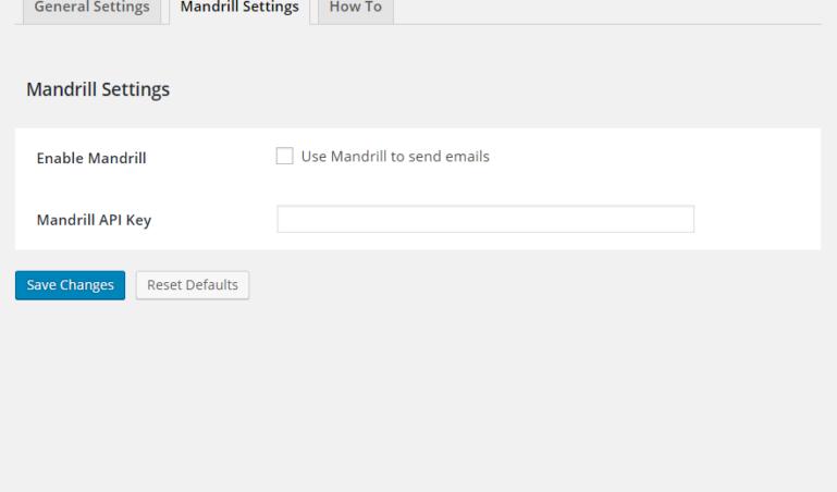 Mandrill settings