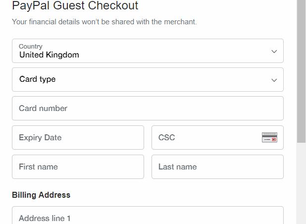 PayPal guest checkout 01