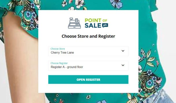 Choose Store and Register