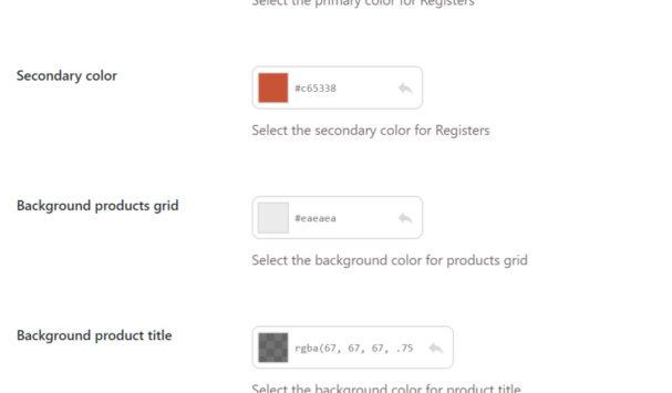 Customize colours
