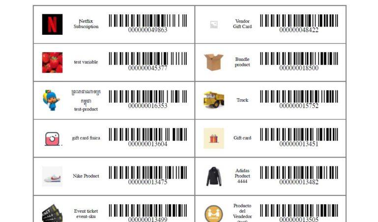Printed barcodes