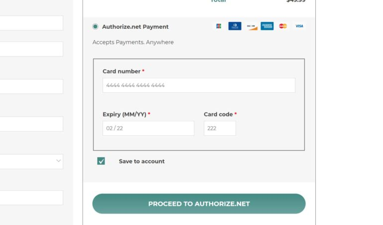 Integrated checkout