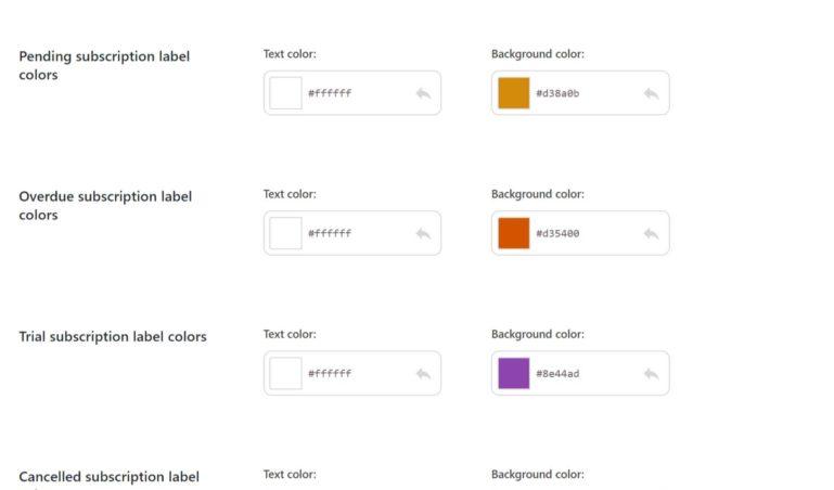 Customization - subscription status