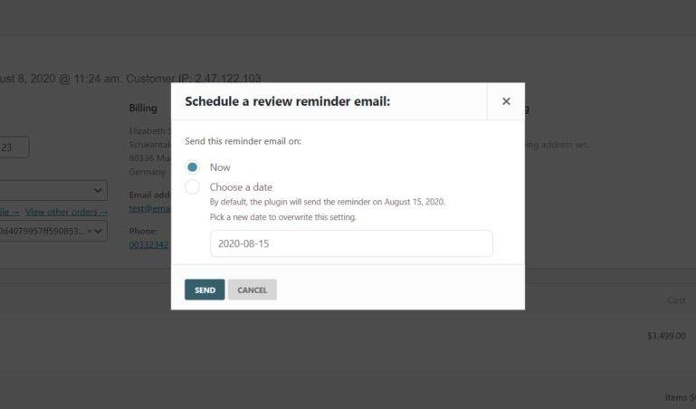Reschedule emails