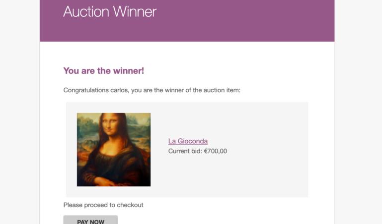 Auction winner