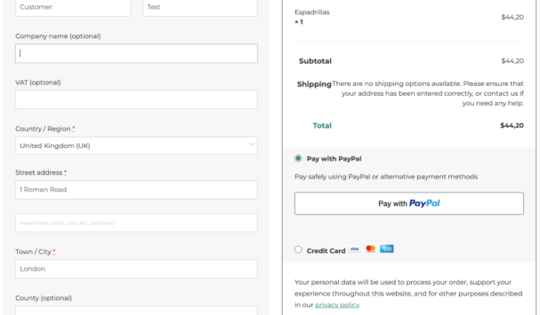 Allow customers to pay using PayPal or alternative payment methods from your checkout
