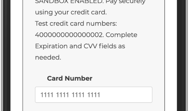 Credit Card checkout using PayPal Payments on a mobile device