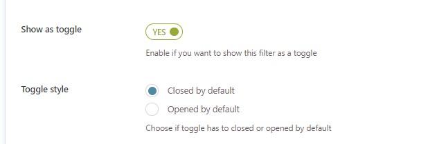 Toggle option