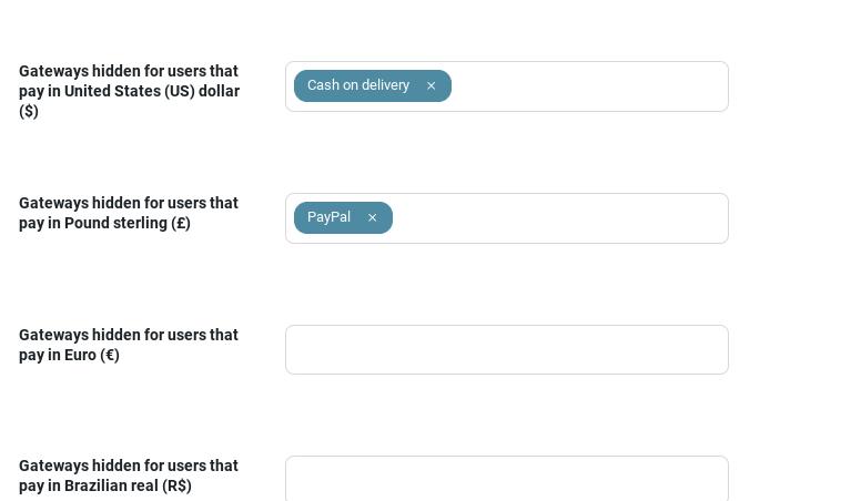General settings - Payment gateway