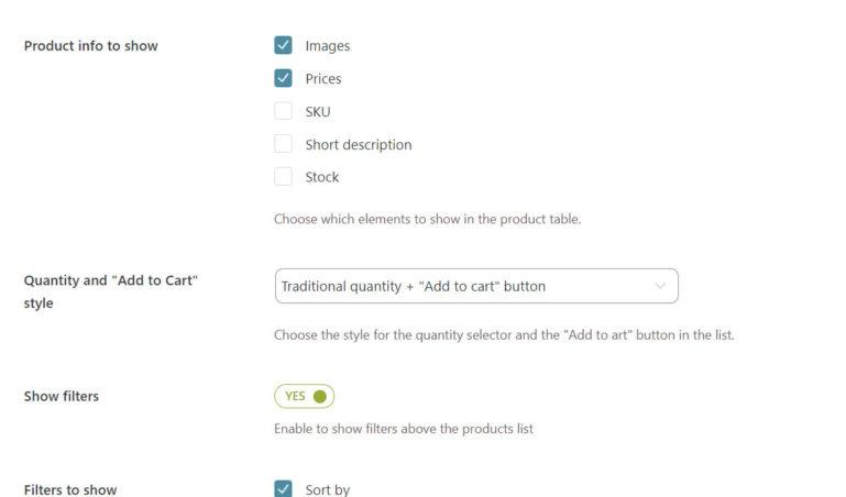 Display options (2/2)