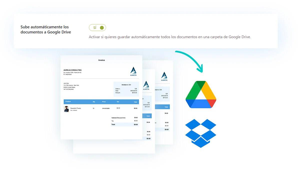 Subir automáticamente los documentos a Google Drive
