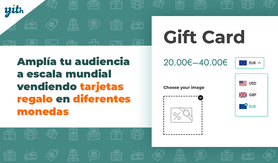 Amplía tu audiencia a escala mundial vendiendo tarjetas regalo en diferentes monedas