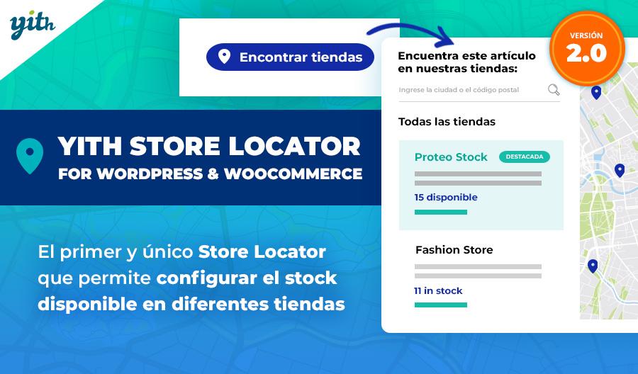 YITH Store Locator for WordPress & WooCommerce: el primer y único Store Locator que permite configurar el stock disponible en diferentes tiendas