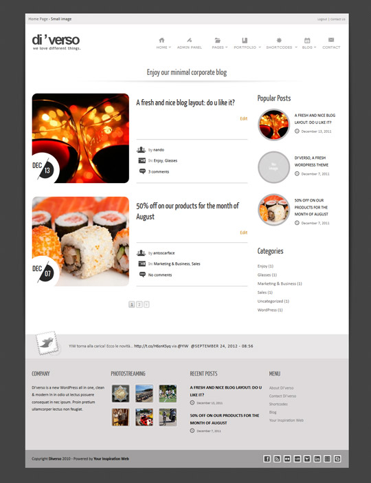 Small layout for blog