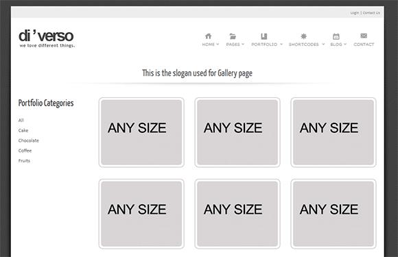 Portfolio filterabke
