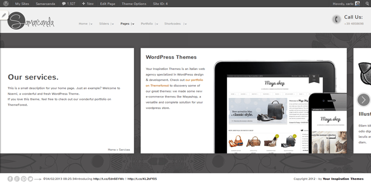 Samarcanda Free WordPress Templates - 07