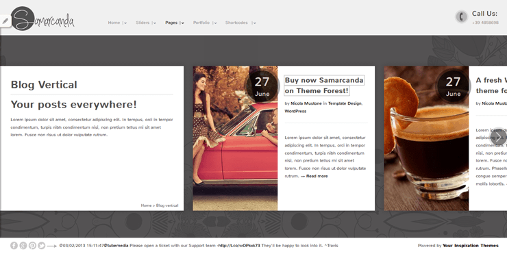 Samarcanda Free WordPress Templates - 08
