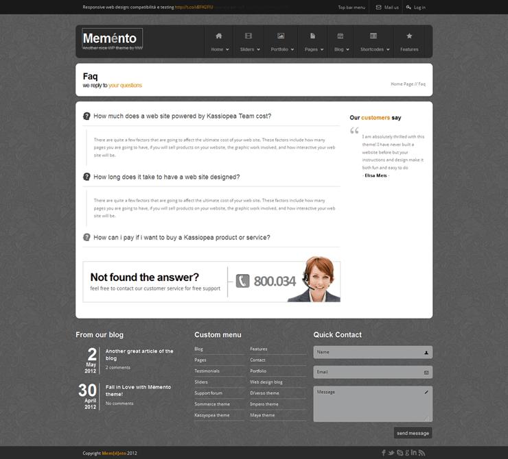 Memento: A FREE HTML Template
