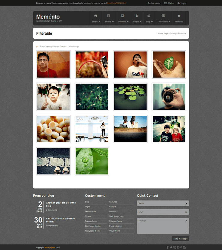 Memento: a FREE HTML Template