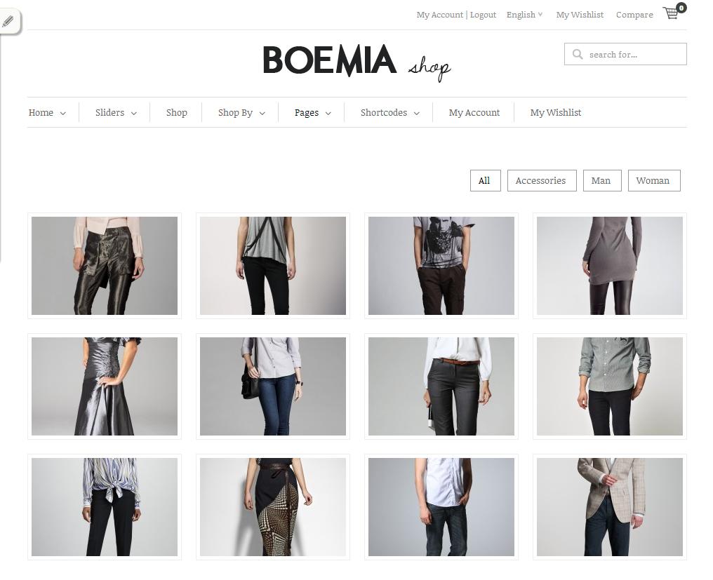 Boemia - The Best Responsive WordPress Ecommerce Theme