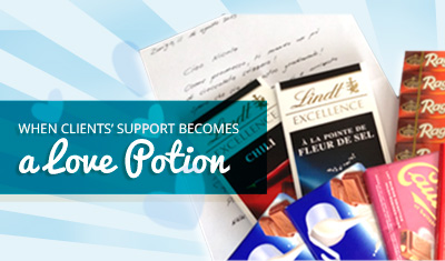 When Clients' Support Becomes a Love Potion