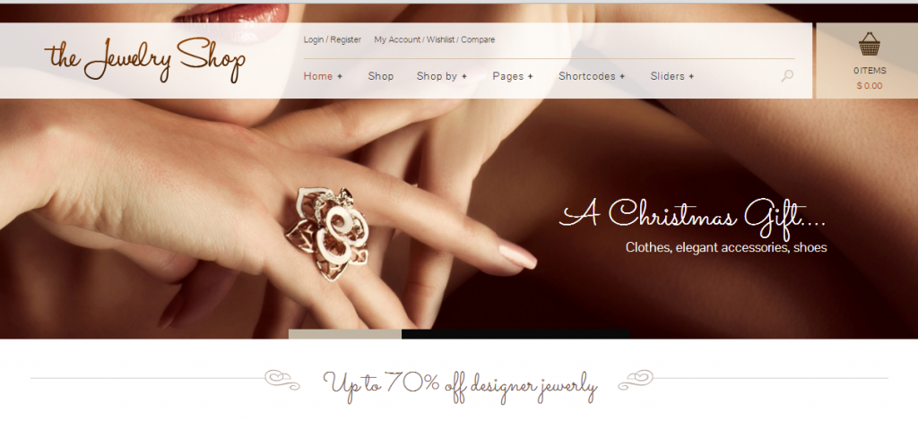 Jewelry Shop E Commerce Jewelry Wordpress Theme