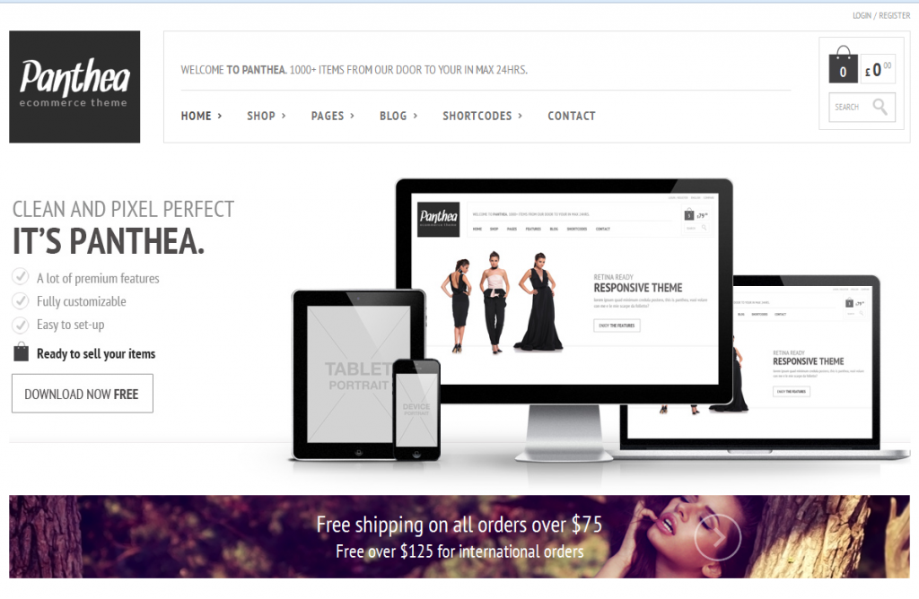 Panthea Free WooCommerce Theme
