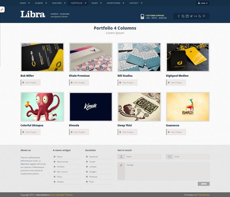 Libra Theme Layout