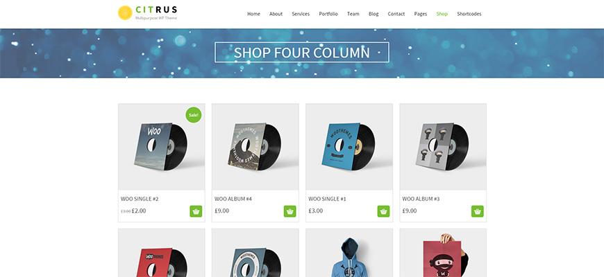 CITRUS WordPress ecommerce themes