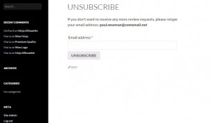 Unsubscribe form