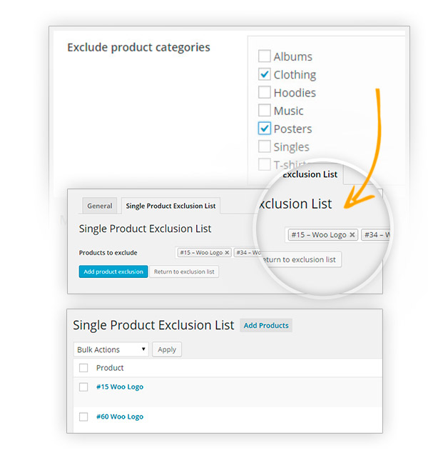 Exclude products
