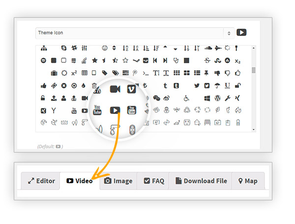 Icon tab