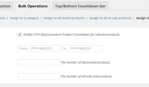 Bulk operations for featured products