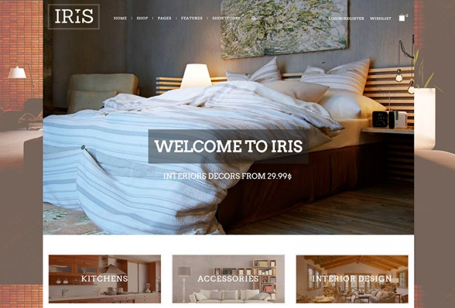 IrisFree Interior Design WordPress Theme