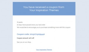 """Template 1"" email template"