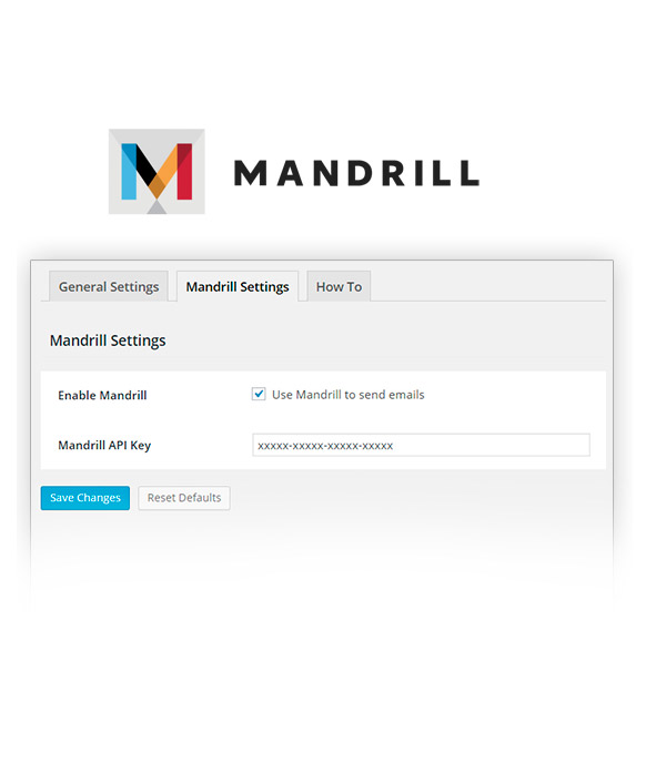 Mandrill configuration