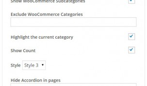 Widget - Show WooCommerce Category