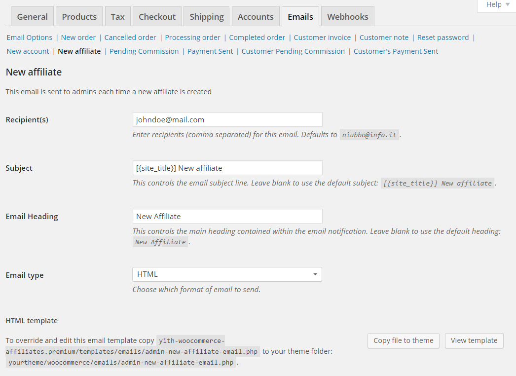 Woocommerce Affiliates By Yith Yith
