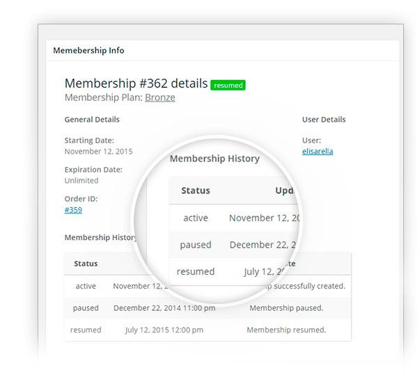 History membership
