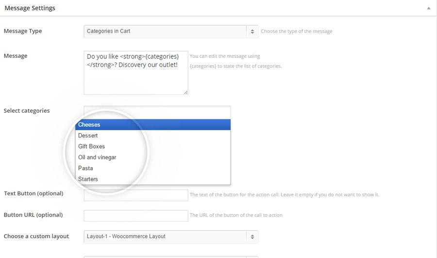 Cart-messages-select-categories