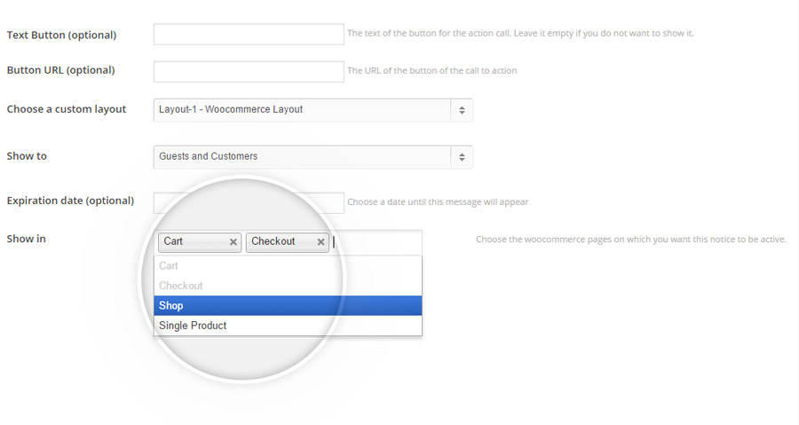 Cart-messages-select-product