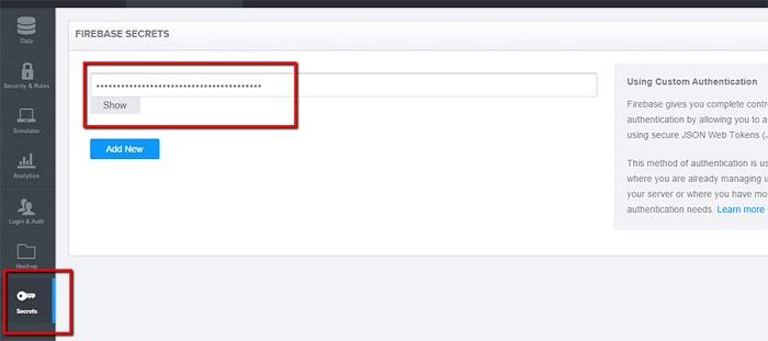 Live-chat-firebase-secret-tab