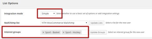 Mailchimp-list-option