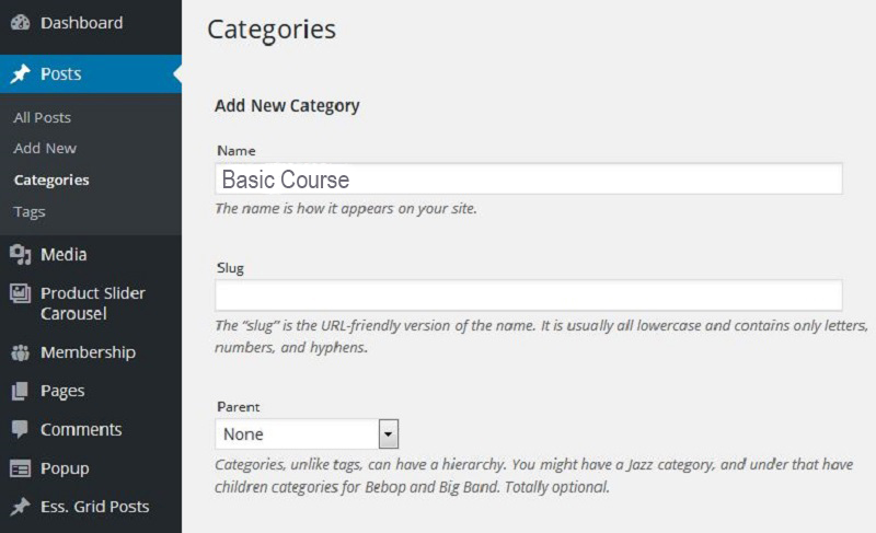 Membership-post-category-basic-course