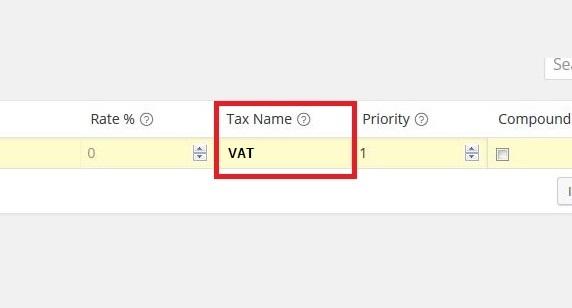 Tax Name SPAIN