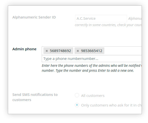 Admin phone