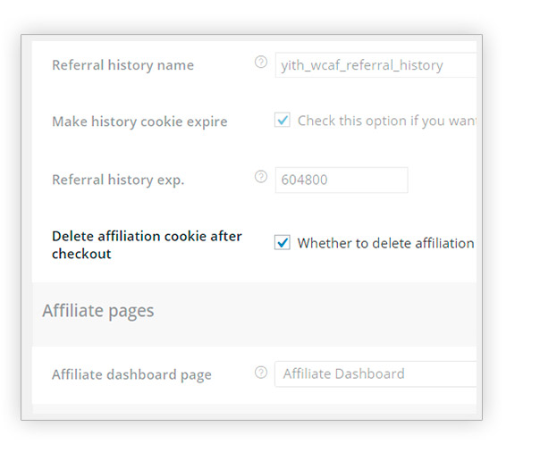 Delete affiliation cookie after checkout